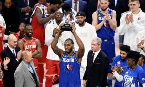 Леонард отримав трофей MVP імені Кобі Браянта