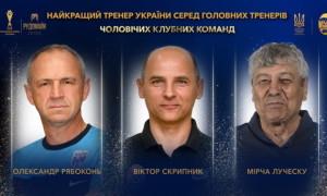 Луческу, Скрипник та Рябоконь претендують на звання тренера року в Україні
