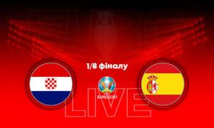 Євро-2020. Хорватія - Іспанія: онлайн трансляція матчу 1/8 фіналу. LIVE