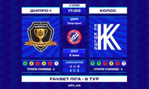 Дніпро-1 - Колос: прев'ю матчу 6 туру УПЛ