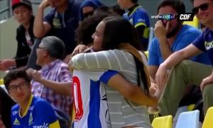 Гравець збірної Венесуели зробив пропозицію під час святкування голу. ВІДЕО