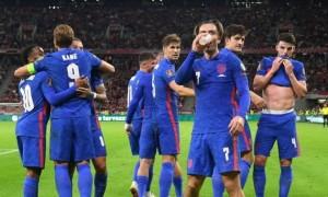 Футболісти збірної Англії пивом відзначили забитий гол просто під час матчу