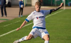 Гравець Динамо тренується з БАТЕ