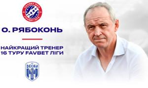 Рябоконя визнали найкращим тренером 16 туру УПЛ
