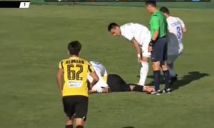 У Казахстані футболіст втратив свідомість під час матчу