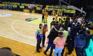 Матч Київ-Баскет - Дніпро був зупинений через сутички вболівальників