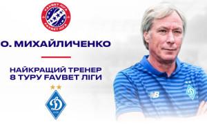 Михайличенка визнали найкращим тренером 8-го туру