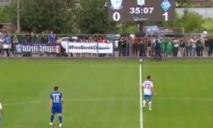 На матчі Минай - Динамо вивісили банер на підтримку американського поліцейського, який убив Флойда