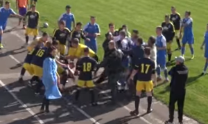 Матч юних футболістів завершився масовим побоїщем