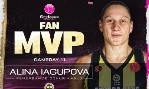 Ягупова знову найкраща після визнання MVP туру Євроліги