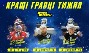 УХЛ визначила найкращих гравців тижня