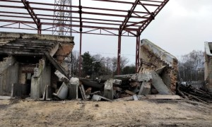 Під час реконструкції у Рівному обвалилася частина трибуни стадіону