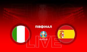 Євро-2020. Італія - Іспанія: онлайн-трансляція півфіналу. LIVE