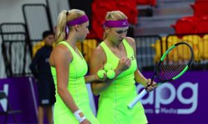 Сестри Кіченок поступилися лідерам посіву на турнірі у Досі