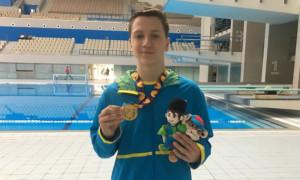 Український плавець здобув золото на Європейському юнацькому олімпійському фестивалі
