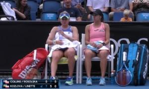 Козлова вилетіла із парного турніру на Australian Open