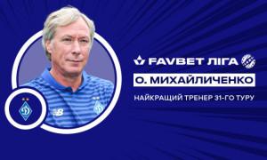 Михайличенко став найкращим тренером 31-го туру УПЛ