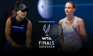 Плішкова - Андреєску: онлайн-трансляція Підсумкового турніру 2019 WTA Finals Shenzhen. LIVE
