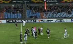 Матч Ліги Європи перерваний через прапор Вірменії