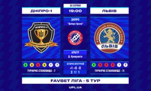 Дніпро-1 - Львів: прев'ю матчу 5 туру УПЛ