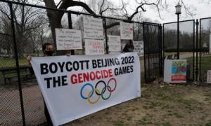 В Афінах відбулася акція протесту проти проведення Олімпійських ігор-2022 у Пекіні