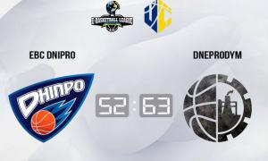 eBC Dnipro поступився Dneprodym у чемпіонаті України