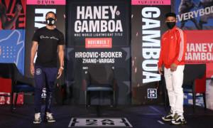 Хейні і Гамбоа провели дуель поглядів перед титульним боєм
