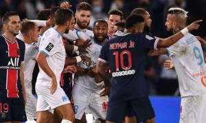Бійка у матчі ПСЖ – Марсель: Арбітр вилучив Неймара та ще чотирьох гравців