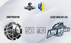 Azov Wolves розгромили Dneprodym у чемпіонаті України