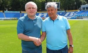 Суркіс і Сидорчук тепло привітали Луческу із 75-річчям