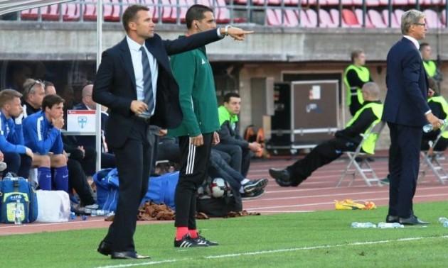 Шевченко задоволений результатами збірної