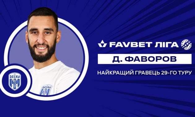 Фаворов – найкращий гравець 29 туру УПЛ