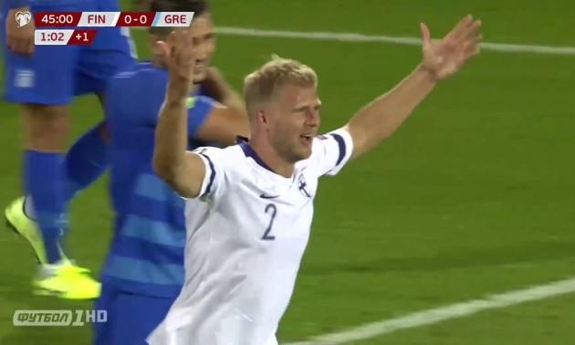 Фінляндія - Греція 1:0. Огляд матчу
