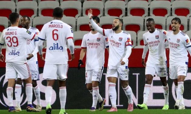 Ліон розгромив Ніццу у 16 турі Ліги 1