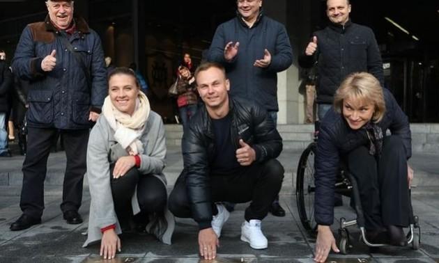 Трьом видатним спортсменам відкрили іменні зірки в Києві