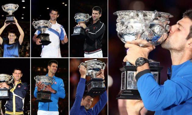 Сім фіналів - сім перемог. Всі вирішальні матчі Джоковича на Australian Open. ВІДЕО