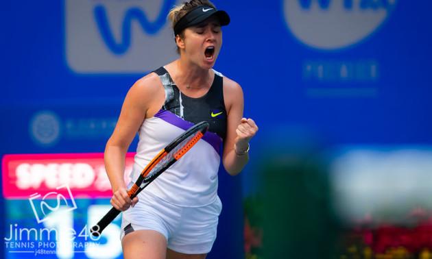 Світоліна впевнено виграла перший сет у росіянки Кузнєцової