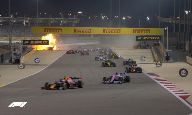 Дві пожежі та переворот боліду. Огляд шаленого Гран-прі Бахрейну