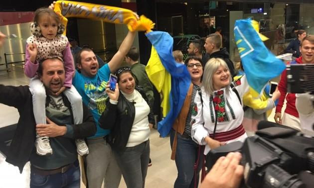 Як українську збірну зустрічали в Лісабоні