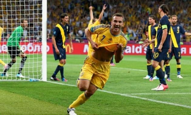 Сім років тому Шевченко приніс Україні перемогу над Швецією на Євро 2012