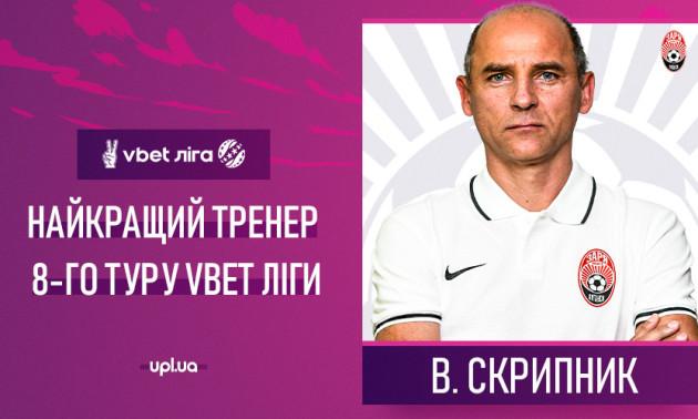 Скрипник - найкращий тренер 8 туру УПЛ