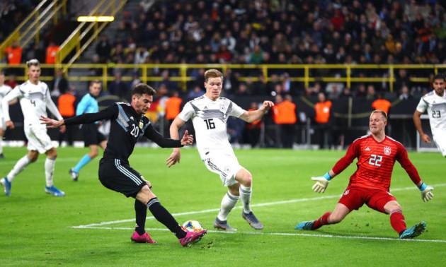 Збірна Аргентини врятувалася у контрольному матчі з Німеччиною
