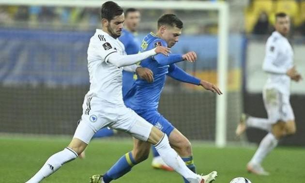 Яремчук отримав найгіршу оцінку за матч з Боснією і Герцеговиною