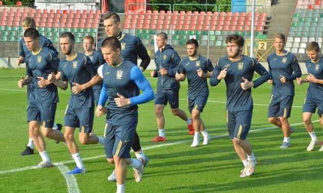 Збірна України U-20 провела тренування перед матчем з Катаром