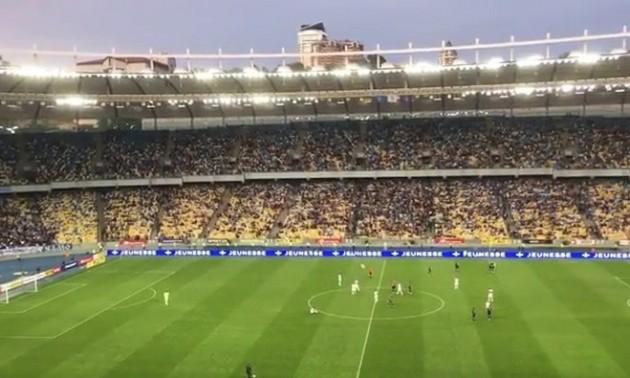 Відео дня. Уболівальники на Олімпійському освистали Динамо після поразки від Десни