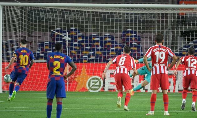 Барселона у матчі трьома пенальті не змогла переграти Атлетіко у 33 турі Ла-Ліги