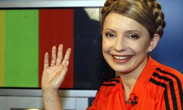 Як Тимошенко у футболці Шахтаря російську мову захищала. ВІДЕО
