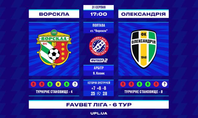 Ворскла - Олександрія: прев'ю матчу 6 туру УПЛ
