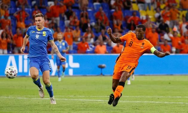 Вейналдум відкрив рахунок у матчі Нідерланди - Україна