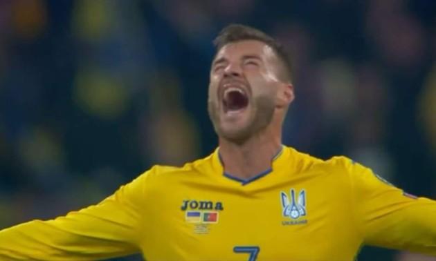 Фантастичні емоції Ярмоленка і Зінченка після матчу з Португалією
